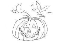 Halloween - Coloring Page for kids to color in preschool and kindergarten, from www.kigaportal.com