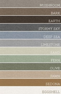 Take any set of 3 of these colors and each room would be amazing. A palette for the whole house!