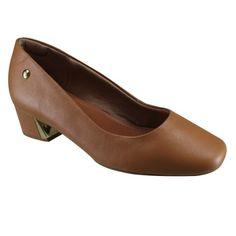 209,90....Sapato Feminino Usaflex S6501/61 - Camel (Caprina) - Calçados Online Sandálias, Sapatos e Botas Femininas | Katy.com.br