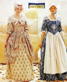 Martha Washington sewing Costume Pattern | Ladies Colonial Dress Martha Washington Costume Pattern Butterick 3071 ...
