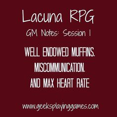 http://www.geeksplayinggames.com/2015/08/lacuna-rpg-gm-notes-session-1.html