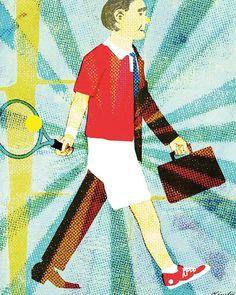 #life #happy #lifestyle #illustration #illustrator #tennis #people #tatsurokiuchi #sports #business