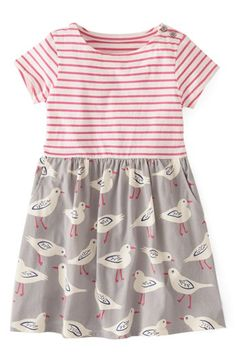 Mini Boden 'Hotchpotch' Jersey Dress (Toddler Girls, Little Girls & Big Girls) available at #Nordstrom