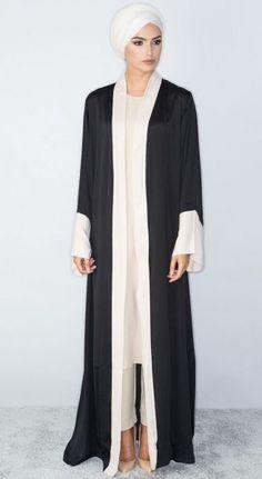 Everyday Abayas More Más Arab Fashion, Islamic Fashion, Muslim Fashion, Modest Fashion, African Fashion, Trendy Fashion, Fashion Dresses, Abaya Designs, Modern Abaya