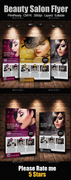 Beauty Salon Flyer Flyer template, Salons and Template - hair salon flyer template