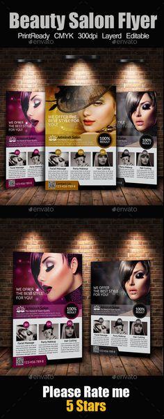 A4 Beauty Salon Flyer