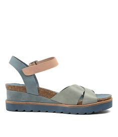 at Midas - BLAYN DENIM-NUDE MULTI $120 sale White Sundress, Hot Days, Rustic Charm, Shoe Box, You Bag, Wedge Sandals, Wedges, Nude, Pairs