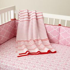 Baby Crib Bedding: Baby Pink Floral Print Crib Bedding in Crib Bedding and Baby Bedding-Amy K.S.-this would be SO perfect for you!
