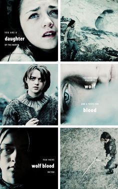 Arya Stark: You have wolf blood in you. #got #asoiaf