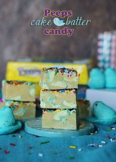 Peeps Cake Batter Candy - Cookies and Cups