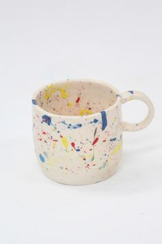 Levi Rainbow Splatter Mug exclusive to Beklina