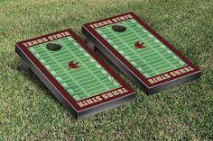 Texas State Bobcats Football Field Cornhole Board Set