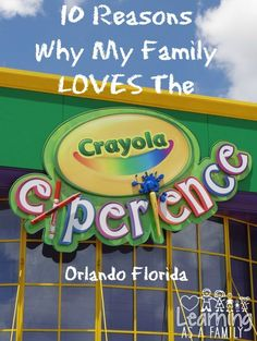 Enjoy a family fun day at Crayola Experience in Orlando, FL! A perfect place for creativity, fun and family. Visit the Orlando Crayola Experience today! Honeymoon Places, Vacation Places, Disney Vacations, Disney Trips, Dream Vacations, Vacation Ideas, Family Vacations, Family Travel, Orlando Travel