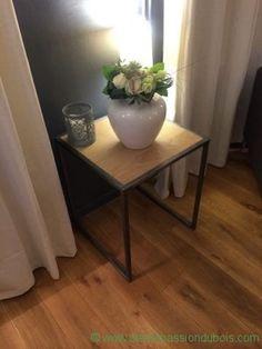 table appoint bois metal salon