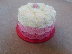 Ambre rose swirl cake