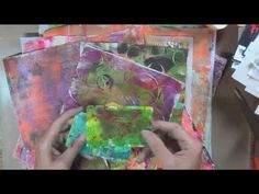 Gelli Plate Project Part 1 - YouTube
