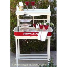 Fabulous Thrift Store Makeovers - The Cottage Market-Radio Flyer mini-buffet