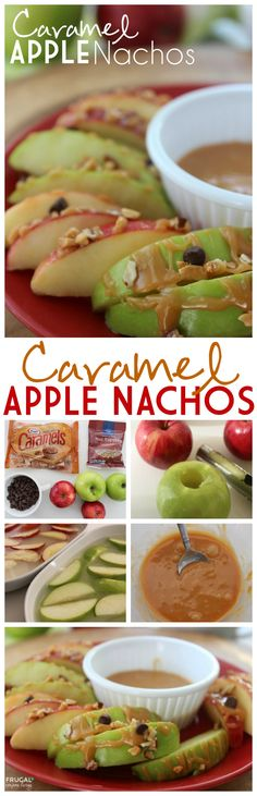 Caramel Apple Nachos - A Twist to the Classic Recipe on Frugal Coupon Living. Great healthy snack idea for the kids.