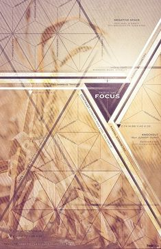 """Focus"" Poster Design.  A nice combination of photography/tone and geometric"