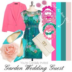 Garden Wedding Guest, created by amandakeener on Polyvore. Love all the colors!