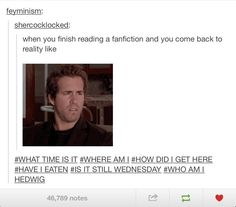 On fanfiction. It's true; fanfiction has this weird addictive power that I don't fully understand.