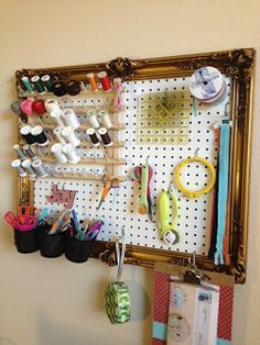 Dress up Peg Board by putting it in a frame.