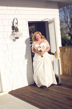 {Real Plus Size Bride} Groom and 2 girls   Bride and 3 boys = Amazing Blended Family