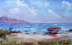 Famous Places, Canvas Board, Beach Walk, Kinds Of Music, Listening To Music, Beautiful Artwork, Cape Town, Impressionism