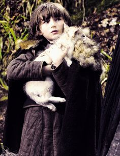 Baby Bran Stark and Summer - I'm going to cry a little now.