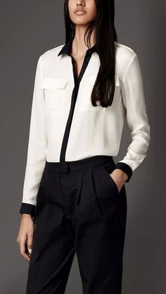 Hign quality women long solid shirt with front pockets for casual or business wear famous brand designed