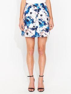 Floral Haze Inverted Pleat Skirt