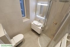 Badezimmer Kluge Raumaufteilung für kleine #Bäder Eckhaus, Next Door, Toilet, Doors, Bathroom, Small Baths, Condominium, Room Layouts, Refurbishment