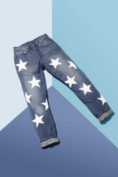 Step 7: Relax, and wait for the paint to dry! (Pro tip: For added safety, blowdry the paint before washing these jeans. This will make extra-sure it stays put.) #refinery29 http://www.refinery29.com/how-to-stencil-jeans#slide-8