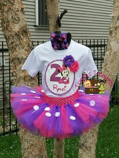 Minnie Mouse Tutu Minnie Mouse Birthday Outfit by TreasuresByTrin