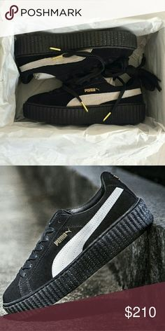 RHIANNA X PUMA CREEPERS BLACK SUEDE SIZE 8 Brand new with the original box also comes with all the accessories puma Shoes Sneakers