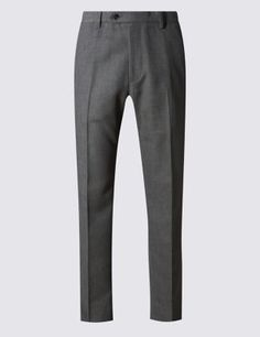 Big & Tall Flat Front Trousers with ButtonsafeTM Mens Big And Tall, Big & Tall, Tall Pants, Trousers, Sweatpants, Flats, Stylish, Tops, Fashion