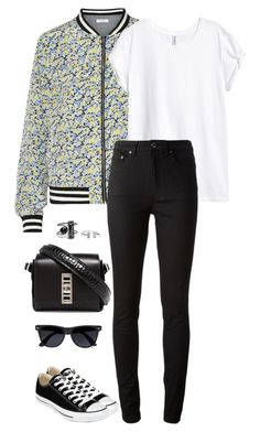 """""""Untitled #2467"""" by meandelstyle ❤ liked on Polyvore featuring Equipment, H&M, Acne Studios, Proenza Schouler, Converse and River Island"""