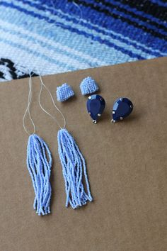 Follow this step-by-step tutorial to create your own version of Oscar de la Renta's classic beaded tassel earrings.