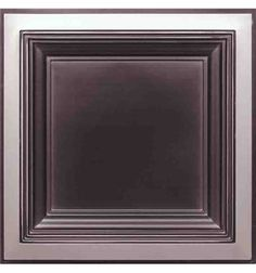 274 Faux Tin Ceiling Tile - Coffered - Antique Silver