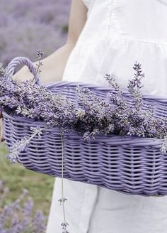 Rectangular Purple Basket is perfect for Lavender!