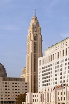 """Leveque Tower  I remember when this was the only """"skyscraper"""" in Columbus"""