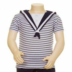 Camiseta estilo marinero para bebés - Navy tshirt