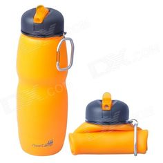 #6.  AceCamp _1544 Multipurpose Foldable Silicone Water Bottle w/ Sport Lid_$15.28_650mL_2.95 in x 2.95 in x 9.06 in