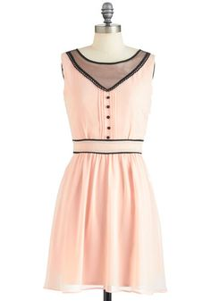 Ballet pink dress - wear to work.     Sunday Salutations Dress, #ModCloth