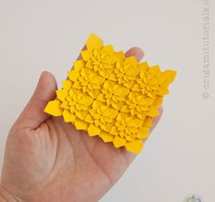 Origami Miniature High Density Hydrangea Tessellation