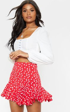 e28ecf836d 10 Best Red polka dot skirt images in 2018 | Disney clothes, Red ...