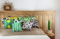 Ikat and Velvet pillows Www.danmasboutique.com