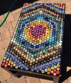 DIY bottle chart  #bottle #chart Coffee Table With Storage, Table Storage, Diy Bottle, Better Day, Ask For Help, Cube, Recycling, Chart, Make It Yourself