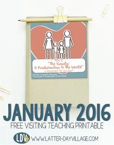 January 2016 FREE Visiting Teaching Printable Handout! www.LatterDayVillage.com