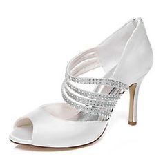 Women's+Wedding+Shoes+Heels+/+Platform+Heels+Wedding+/+Dress+Ivory+/+White+–+AUD+$+141.54